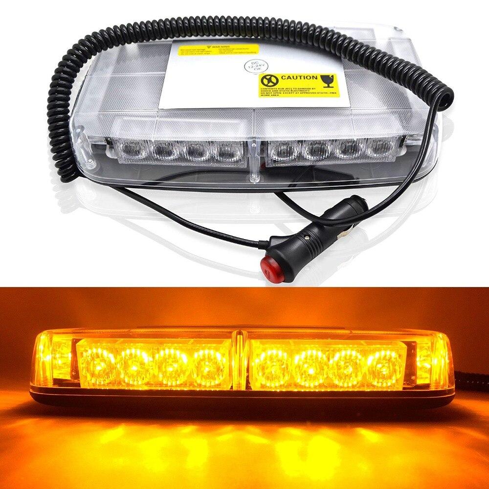 24 LED Red Blue Yellow Car Truck Emergency Hazard Flashing Warning light auto car Roof Mini