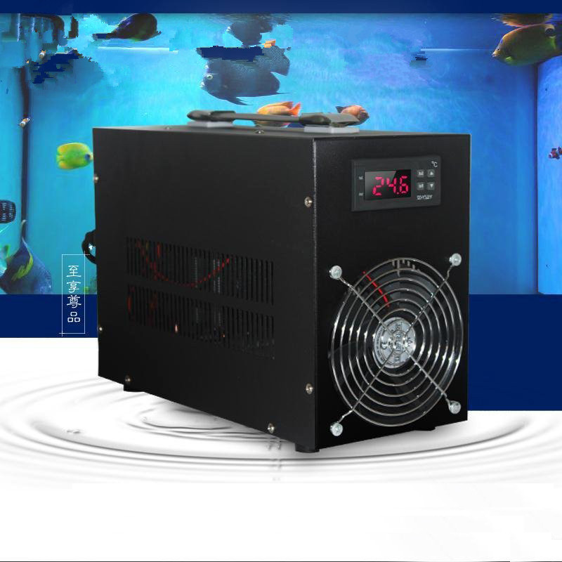 Аквариумный охладитель маленький и средний аквариум бесшумный электронный РЕФРИЖЕРАТОРНЫЙ термостат Аквариум охлаждение и охлаждающая м