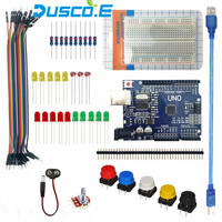 Starter Kit For Arduino UNO R3 Learning Basic Suite 400 Breadboard LED Jumper Wire Resistor USB