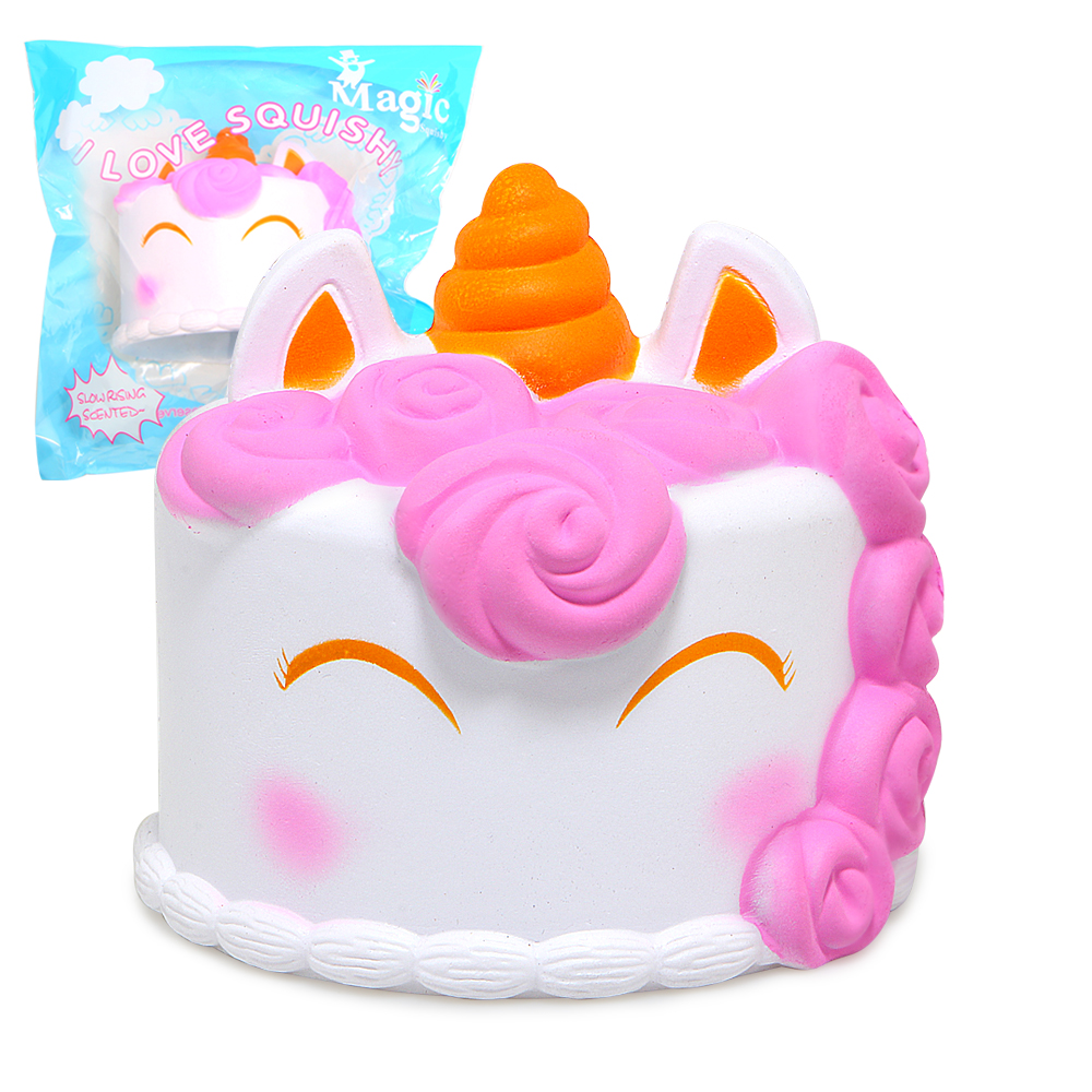 Jumbo Squishy Cute Unicorn Cake Squishies Super Slow Rising Cream Scented Original Package Squeeze Toy