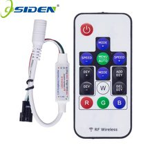 OSIDEN 50PCS DC5-24V RF RGB LED Strip Controller 14Key RF Wireless Remote 2048Pixels 300kinds Mode for WS2812B WS2811 led Strip(China)