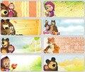 50 unids/lote 46*18mm Nueva Masha y Oso de las pegatinas para niños niñas venta caliente