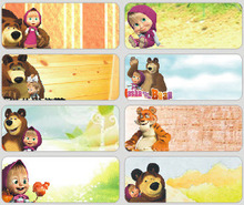 50pcs lot 46 18mm New Masha and Bear the stickers for boys girls hot selling