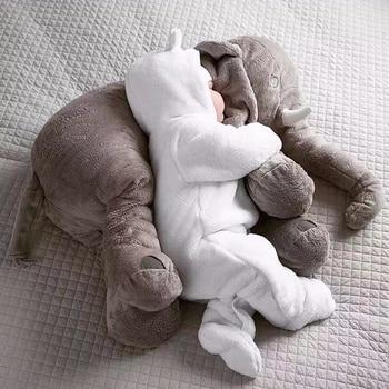 65cm Plush Elephant Toy Baby Sleeping Pillow Back Cotton Cushion Stuffed Animal Baby Doll  Newborn Playmate  Kids Birthday Gift stuffed toy