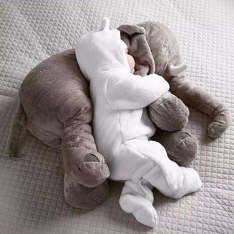 65cm Plush Elephant Toy Baby Sleeping Pillow Back Cotton Cushion Stuffed Animal Baby Doll Newborn Playmate Kids Birthday Gift