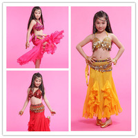 2015 Wholesale Cheap Belly Dance Costume For Kids S M L Size 3 Colors Available