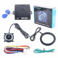 In Stock Quality RFID Car Alarm System With Smart Key Push Start Button Transponder Immobilizer