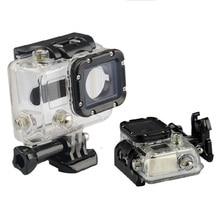 مقاوم للماء 45 متر الغوص الرياضة الإسكان صندوق مع الزجاج تصاعد ل GoPro بطل 3/3 +/4 كاميرا