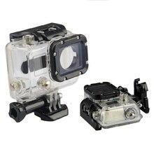 للماء حالة 45M الغوص الرياضة الإسكان مربع مع الزجاج تصاعد ل GoPro بطل 3/3 +/4 كاميرا