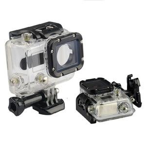 Image 1 - Wasserdicht Fall 45M Tauchen Sport Gehäuse Box mit Glas Montage für GoPro Hero 3/3 +/4 Kamera