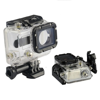 Waterproof Case 45M Diving Sports Housing Box with Glass Mounting for GoPro Hero 3/3+/4 Camera