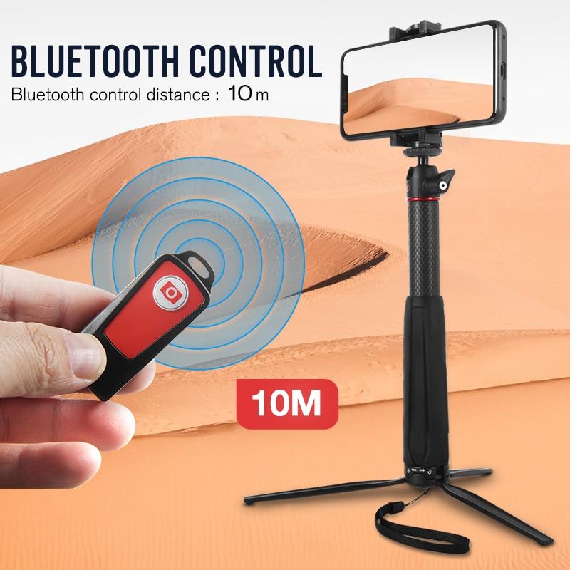 BENRO SC1 Carbone fibre Selfie Bâton Trépied monopode bluetooth pour Smartphone Gopro caméra d'action mirrorless DJI Osmo Poche