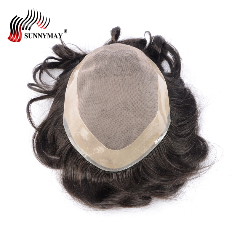 stock fine mono with skin around , hair men toupee , hair replacement men toupee free shipping