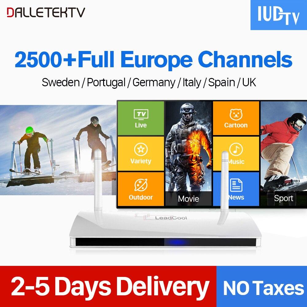 Espagne UK IPTV abonnement Android Box RK3229 IP TV chaînes Box allemand Italia nordique IPTV Code 1 an IUDTV Leadcool