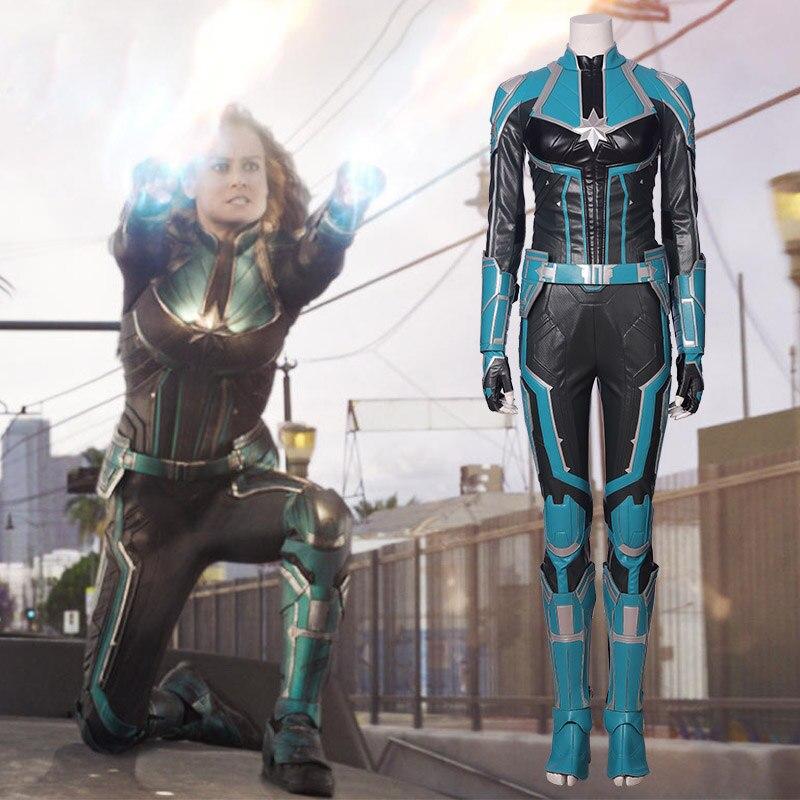 Adult Women Superhero Captain Marvel Carol Danvers Cosplay Costume 3D Print Zentai Spandex Jumpsuits Bodysuits Suit  Carnival