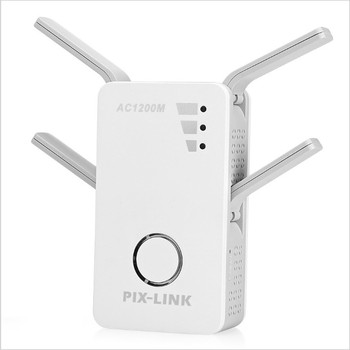 PIXLINK AC09 1200 2.4GHz 5GHz Dual Band AP Wireless wifi Repeater Range AC Extender Repeater Router WPS With 4 External Antennas