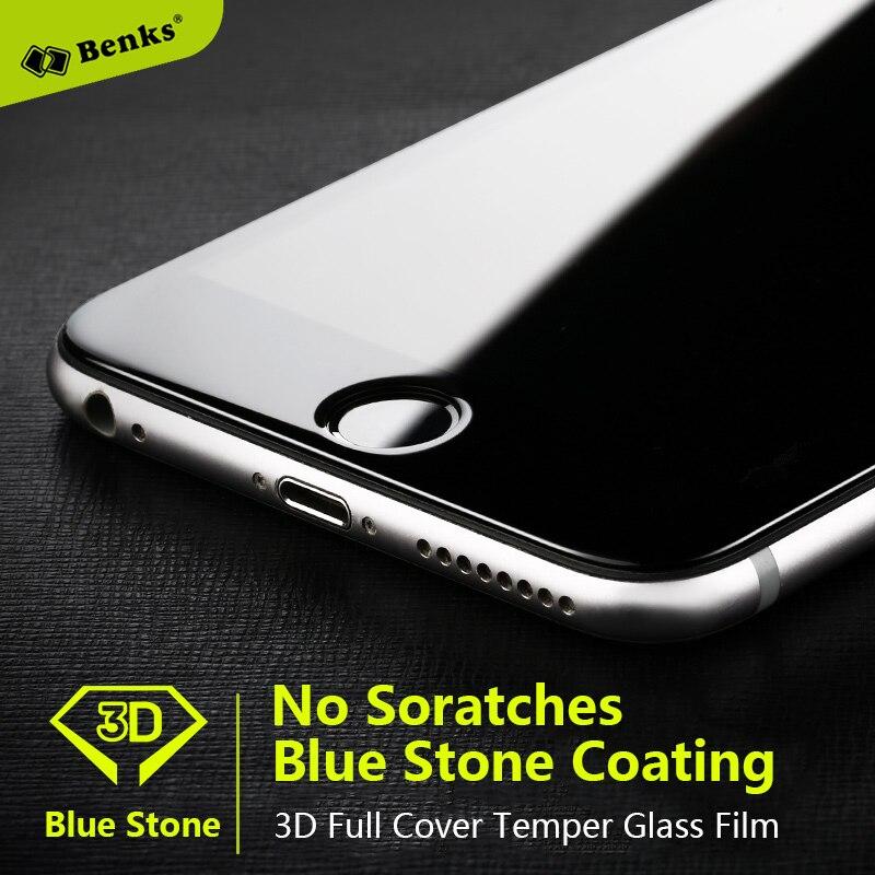 imágenes para Benks Zafiro Recubrimiento Protector de Pantalla de Cristal Templado Para El Iphone 6 Iphone Iphone 6 Más 6 S No Cero de La Cubierta Completa 3D de Cristal película