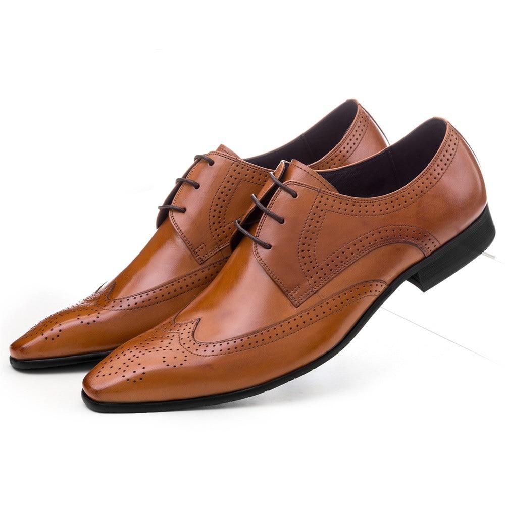 Didelio dydžio EUR45 juoda / ruda tan / ruda nukreipta kojų pirštinės Oxfords vyriškos suknelės batai natūralios odos verslo avalynės vyrų vestuvių bateliai