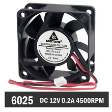 20pcs 6025 60mm x 25mm 2Pin 12V DC Brushless Cooling Fan For PC Computer CPU Cooler