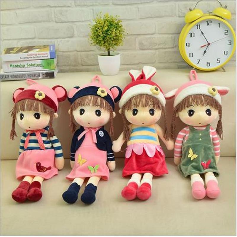 45cm Stuffed Dolls Soft PlushToys Wedding Rag Doll Infant Kawaii Model A Toy For Girls Kids Birth Christmas Gift