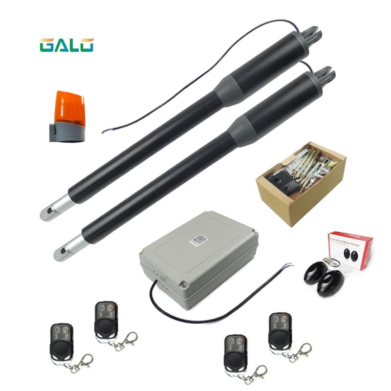 New Black appearance Aluminum Light Duty Worm Gear Automatic Swing Gate Opener (photocells,lamp,button,keypad, optional)
