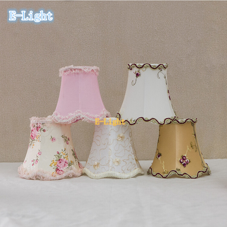 Child Lovely Flower Handmade Lamp Shade White Pink Purple Yellow Lace For American Chandelier Lampshade Wall Light Cover In Covers Shades From