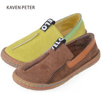 Children's shoes for girls boys platform sneakers kids slip-on boat shoes flat shoes spring footwear yellow black brown colors