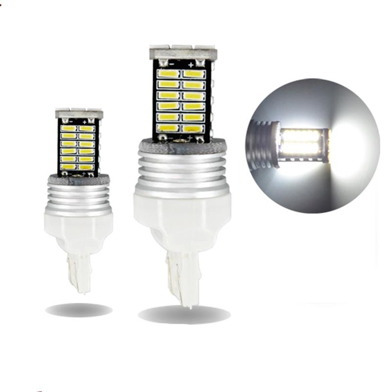 Tcart 1шт /много Т20 7443 w21w в 9-30В 10 Вт canbus для чип 4014 СИД неполярных тормозные огни стоп-сигнал