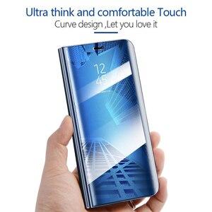 Image 3 - Умный зеркальный флип чехол для телефона Xiaomi Redmi GO 5A Note 8 9T K20 6 6A 8A 5 4 4X 7 9 8 SE 7A CC9E A3 Lite Pro, кожаный чехол