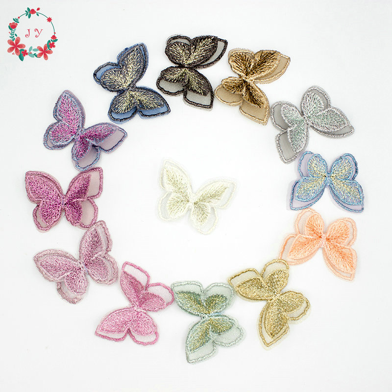 Hot Embroidered Lace Butterfly Design Shape Multi-Color Lace Craft Clothes Decor