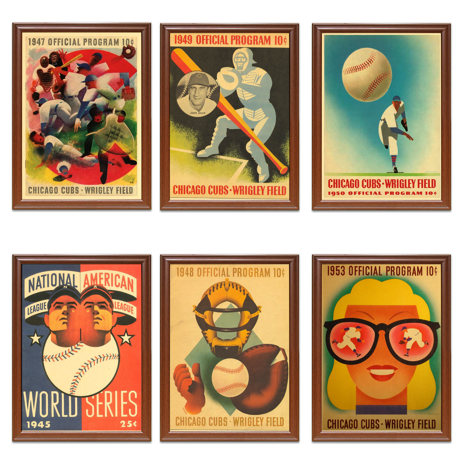 Chicago Cubs Baseball A4 Picture Art Poster Retro Vintage Style Print