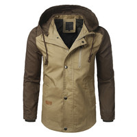 The North Of Mens Coats Jackets Tactical Jackets Military Motorcycle Outwear Winter Casual Patchwork Slim Bomber