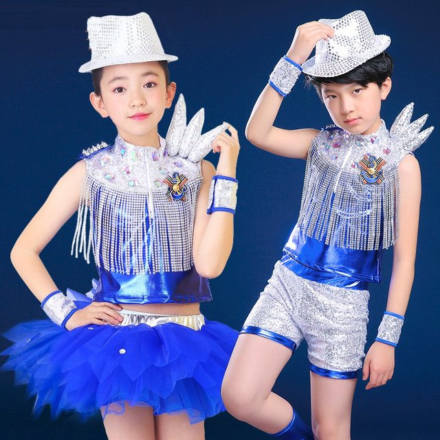 593bf8898 20pcs lot Free Shipping Modern Design Sequin Children Street Dance ...