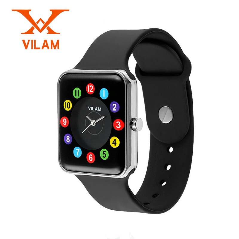 Fashion Women Sports Watch Relojes Mujer Boys girls Cartoon Children Watch VILAM Men Waterproof Watches Relogio Feminino children watch led digital sports relojes mujer boys girls fashion kids cartoon jelly relogio feminino wristwatches pinbo