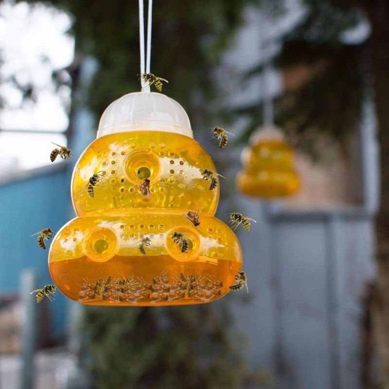 Wasp Trap Kill Pest Insect Mosquito Killer Fly Trap Reject Hornet Catcher Hanging On Tree Garden Bee Trapper Agriculture Tools