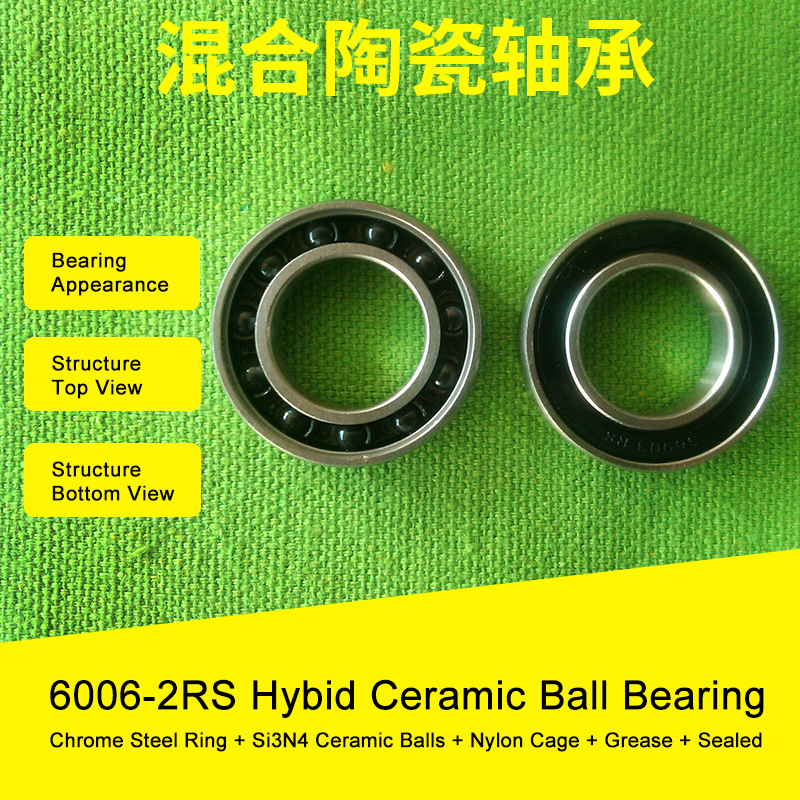 6006 Hybrid Ceramic Bearing 30x55x13 mm ABEC-1 ( 1 PC ) Bicycle Bottom Brackets & Spares 6006RS Si3N4 Ball Bearings 7805 2rsv 7805 angular contact ball bearing 25x37x7 mm for fsa mega exo raceface shimano token bb70 raceface bottom brackets page 1