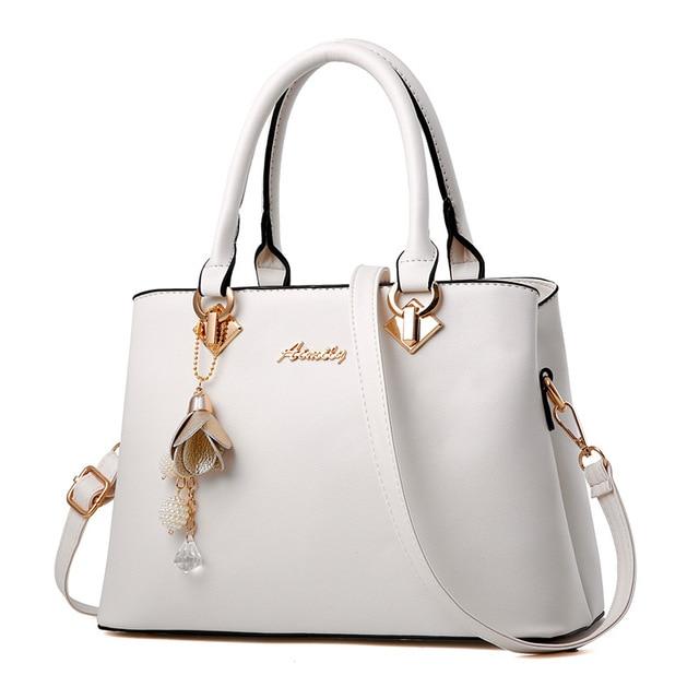 89f3616834a08 Women Bag Vintage Handbag Casual Tote Fashion Women Messenger Bags Shoulder  Top-Handle Purse Wallet Leather 2019 New Black Blue