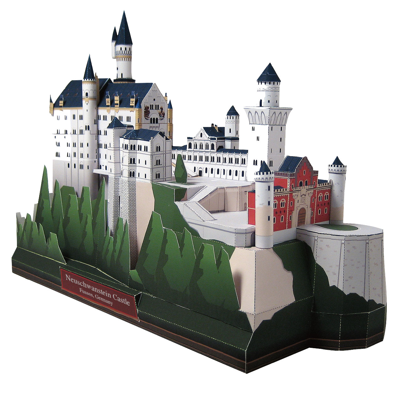 DIY Neuschwanstein Castle, Germany Craft Paper Model Architecture 3D  DIY Education Toys Handmade Adult Puzzle Game