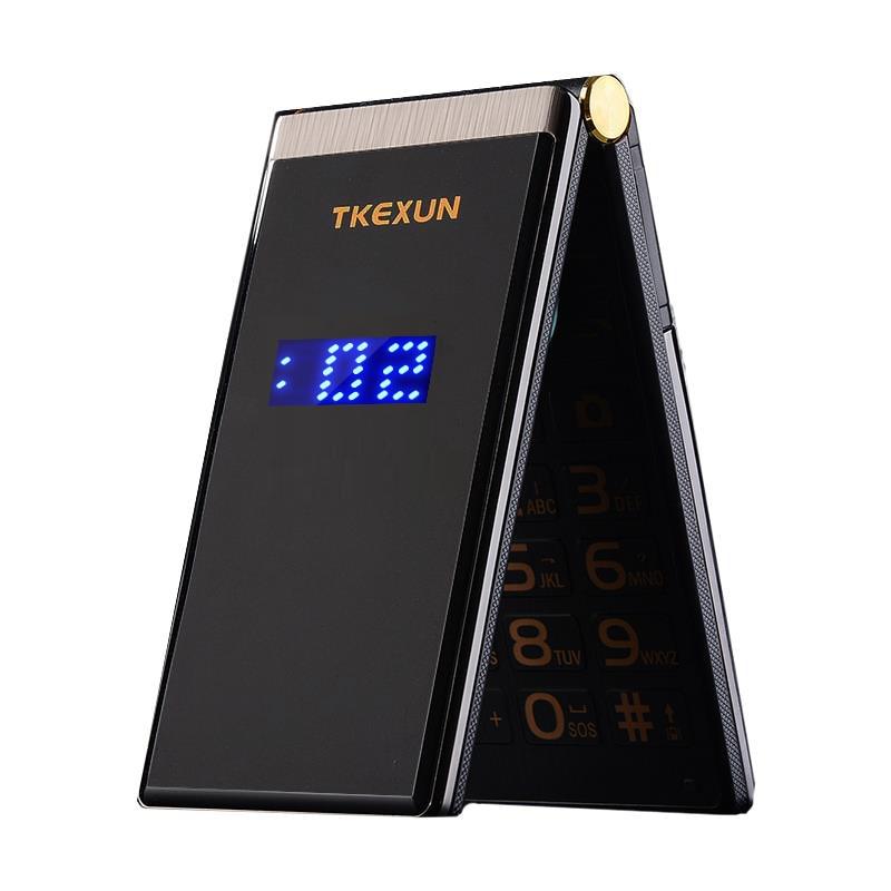 Touch Big Screen 3.0 Display Business Flip Quick SOS Key Metal Body Senior Men Non smart Mobile Cell Phone P302