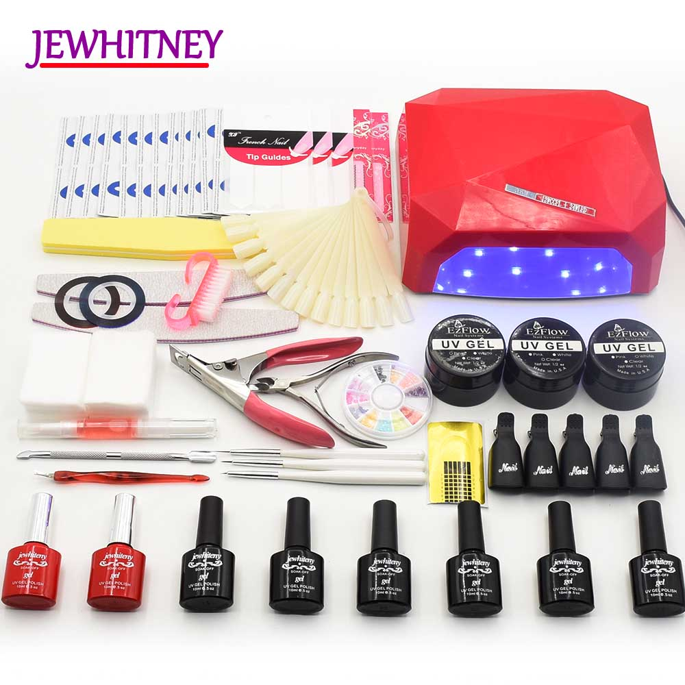 6 colors Nail Gel Polish Set Nail Kit LED UV Lamp Nail dryer Manicure Set UV Extension Gel Kit Manicure tools Kit Nail art Sets em 128 free shipping uv gel nail polish set nail tools professional set uv gel color with uv led lamp set nail art tools
