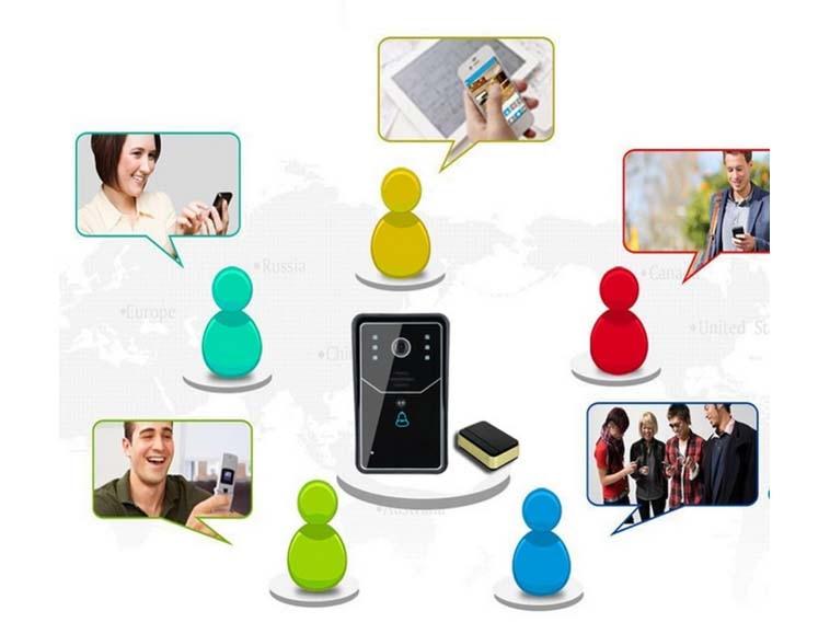 Best price Video Door Phone WiFi Remote Video Camera Door Phone Rainproof Intercom Doorbell Camera Remote Network Home Building