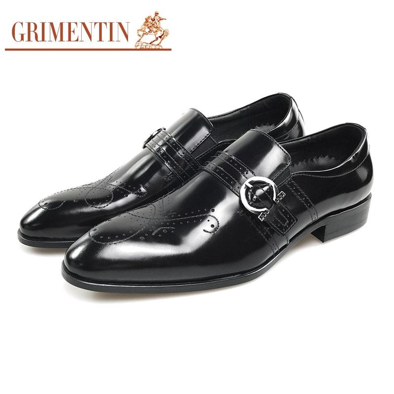 723ae8fb0b De Grimentin Black Sapatos Marrom Mens Formal Vestido Preto brown Couro Moda  Masculino Festa qBBEwW