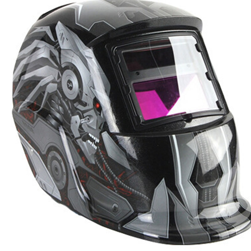 FDDT new Solar Auto Darkening Welding Helmet TIG MIG Weld Welder Lens Grinding Mask fire flames auto darkening solar powered welder stepless adjust mask skull lens for welding helmet tools machine free shipping
