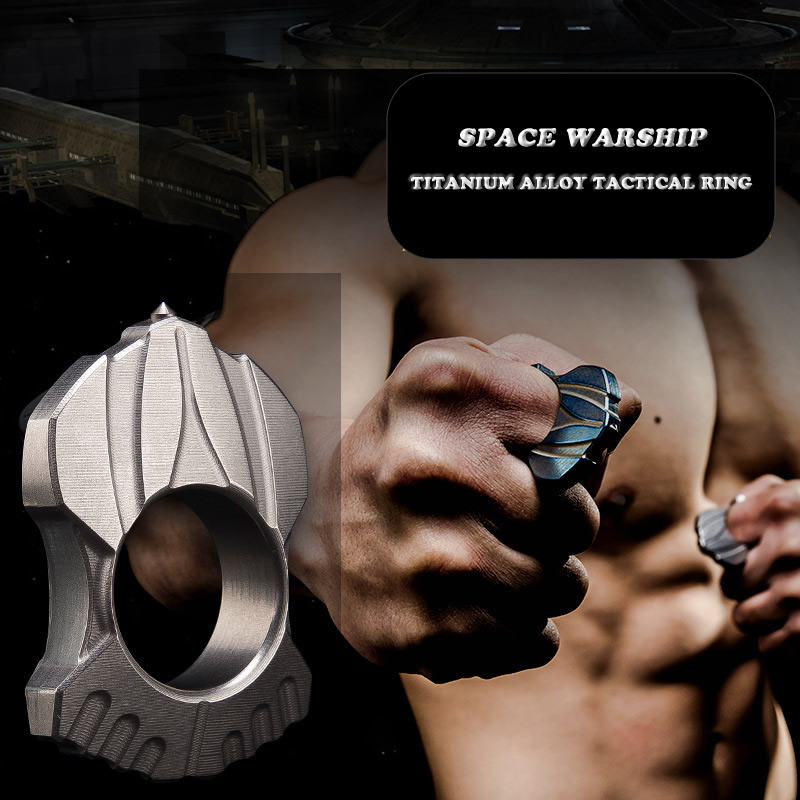 High Quality TC4 Titanium Alloy Tactical Ring Women Men Outdoor EDC Self-defense Tool Glass Breaker Christmas Gift Dropshipping недорго, оригинальная цена