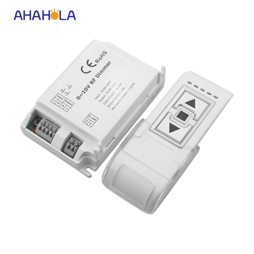 Ac110-220v 3 key RF wireless remote control 0-10v dimming switch,output  signal 0-10v dimmer controller for lamp lights
