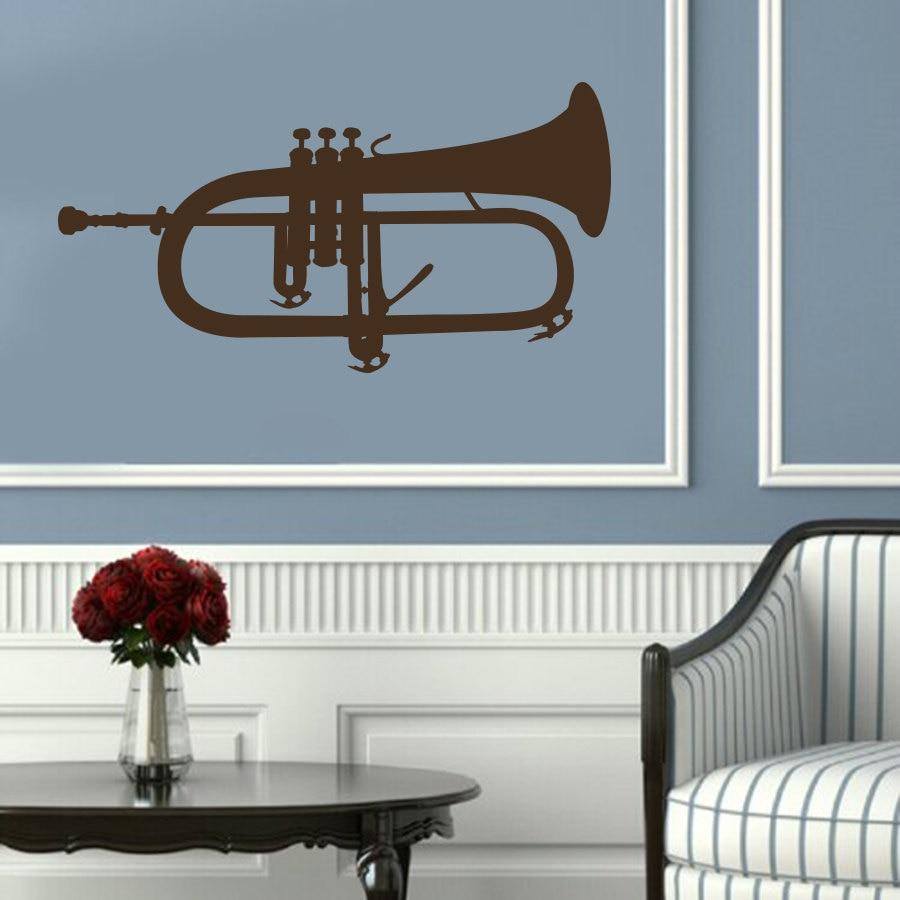 musical instruments wall decal tuba brass vinyl wall sticker