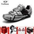 Tiebao дорожный комплект велосипедной обуви с педалью sapatilha ciclismo самоблокирующийся дышащий спортивный Открытый велосипед мужские кроссовки ж...