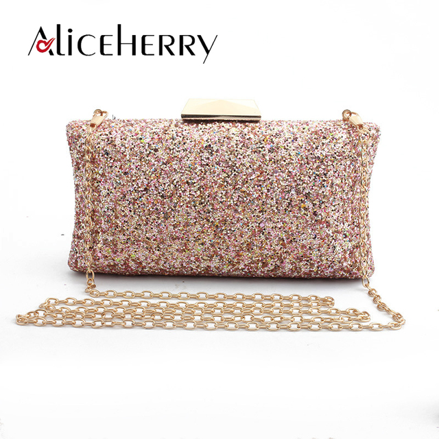 47a3aeab30648 Top Grade New Design Box Evening Bag Pink Sequins Luxury Clutch Bag Diamond  Ladies Handbags Party
