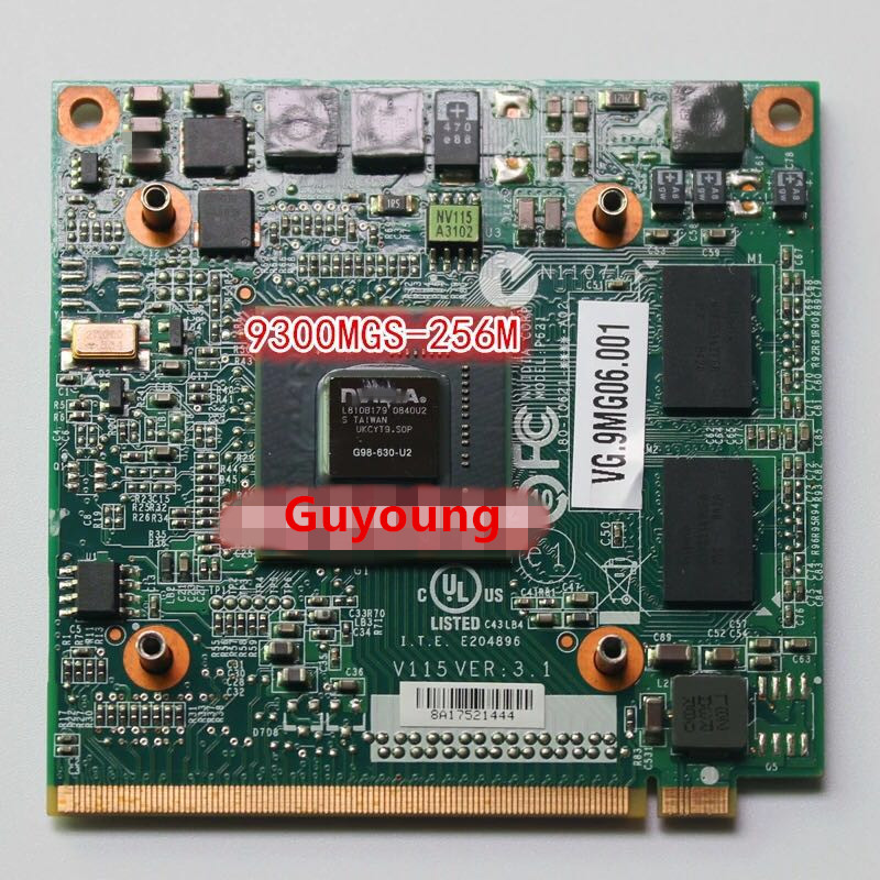 For Acer Aspire 4730 4930 5930 6930 4630 7730 Graphics VGA Video Card For GeForce 9300M GS 9300MGS MXM II DDR2 256MB G98-630-U2