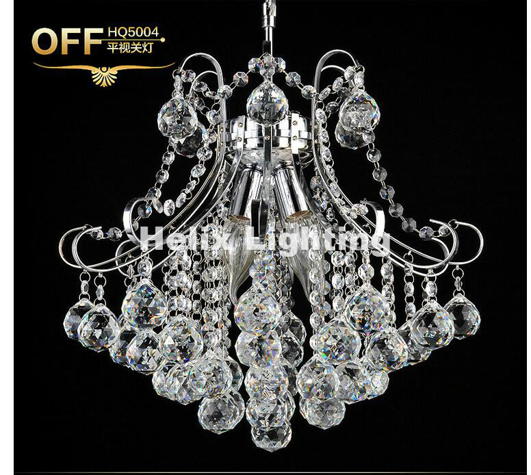 Modern Chrome D30cm LED Crystal Chandelier Lighting Top Luxury E14 LED Chandelier Lighting Factory Direct Selling Free Shipping odeon sorema 2866 5